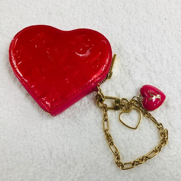 Louis Vuitton Handbags - LOUIS VUITTON HEART COIN PURSE RED/PINK VGC TH4098